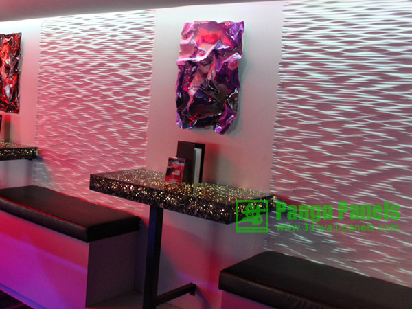 3d background wallpaper panels in coffee house