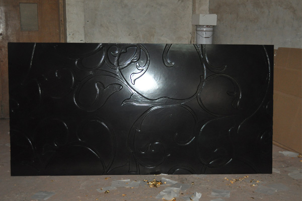 3d wall finishes - Black color finish