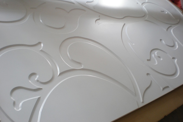 3d wall finishes - White finish