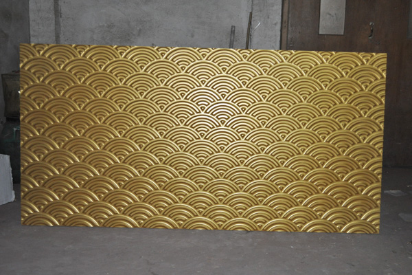 3d wall finishes - Fantasize golden