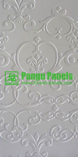 white textured drywall panels